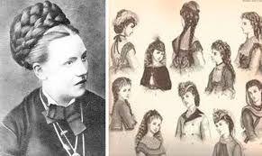 Imágenes Victorianas: Peinados y sombreros femeninos.