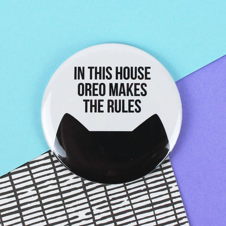 Personalised cat gift for her, funny cat fridge magnet, crazy cat lady gift, 58mm In this house the cat makes the rules magnet by PurpleTreeDesignsUK on Etsy https://www.etsy.com/uk/listing/569798409/personalised-cat-gift-for-her-funny-cat
