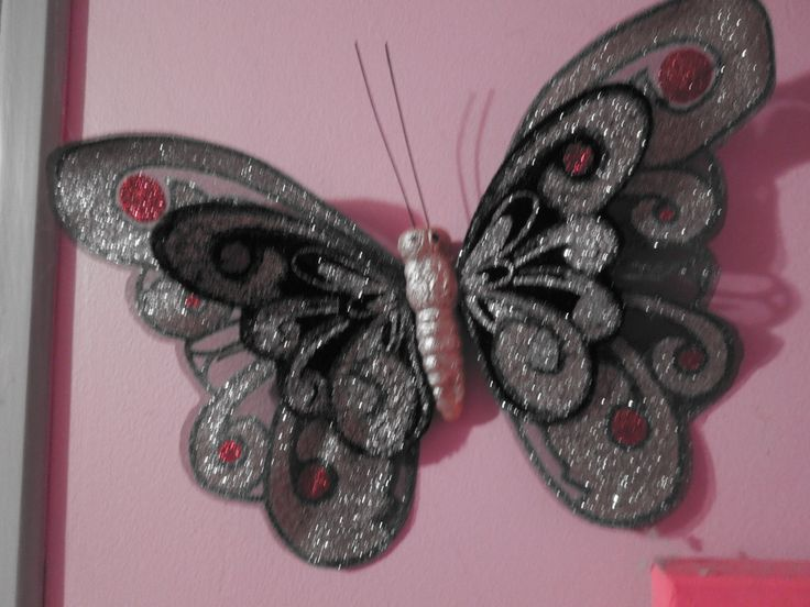 Butterfly pink background