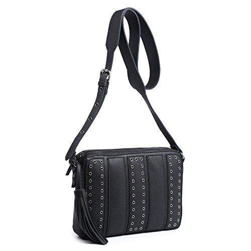e1639cdc2256 HuLi Women's Stylish Studded Faux Leather Cross Body, Shoulder Bag ...