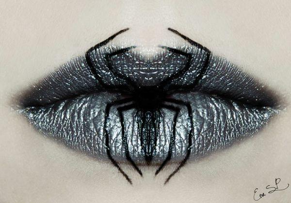 Halloween Schminke von Eva Pernas - Faszinierende Ideen, wie Sie Ihre Lippen für Halloween schminken  - http://freshideen.com/halloween-deko/halloween-schminke.html