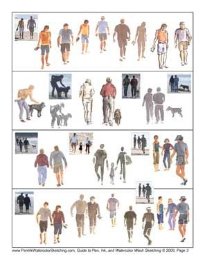 Painting People - Six Free Tip Sheets for Watercolor Wash. Figurative painting, painting people