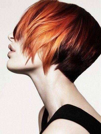 Colore capelli sfumato rosso