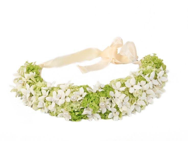 Corona de flores Jade | Bourguignon Floristas