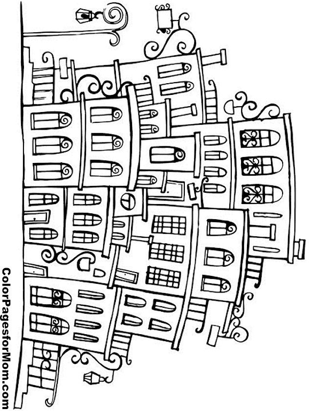 """City Coloring Page 12   free sample   Join fb grown-up coloring group: """"I Like to Color! How 'Bout You?"""" https://m.facebook.com/groups/1639475759652439/?ref=ts&fref=ts"""