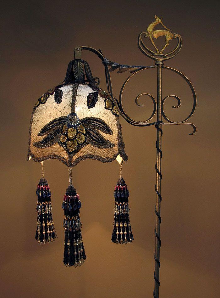 Victorian Beaded Floor Lamp | Antique Floor Lamps U0026 Beaded Victorian Lamp  Shades By   HD