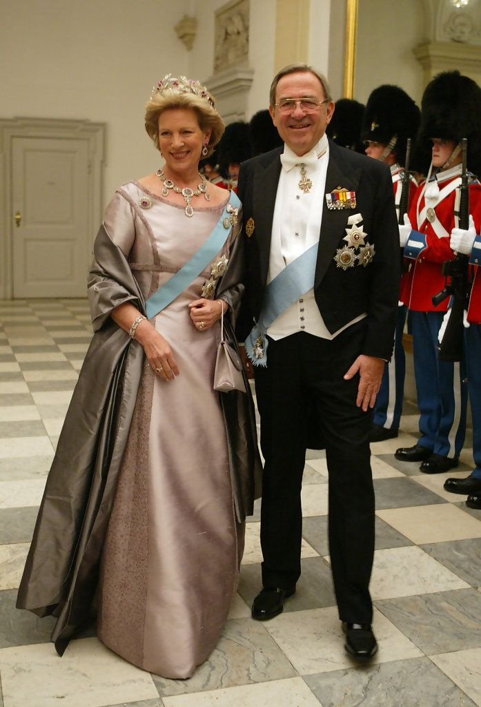 Former King Constantine II of Greece and his wife Queen Anne-Marie, sister of Danish Queen Margrethe II