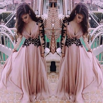 New Sexy Lady Lace Ball Prom Gown Cocktail Evening Party Formal Long Dress S M L