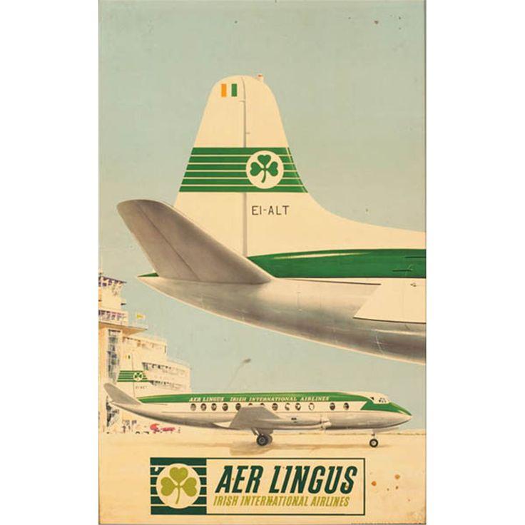Aer Lingus   #aviation #airports #travel #vintage #advertising #Dublin #Ireland #DublinAirport #AerLingus