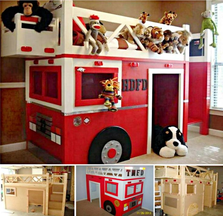Fire Truck Loft Bed  I know Joe Herndon could make this, no problem.  He made a great two story play house
