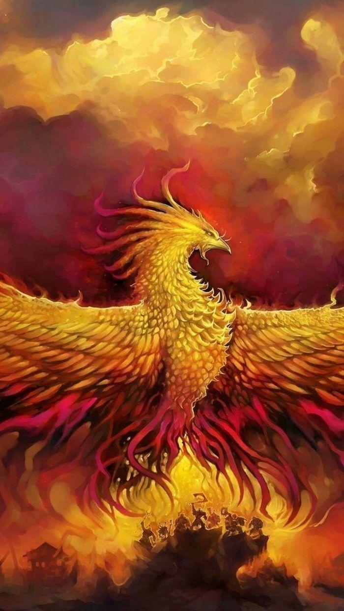 Wallpaper Phoenix Bird Pictures iPhone with resolution