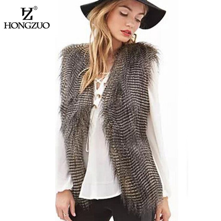 Cheap faux fur vest, Buy Quality fur coat directly from China fur coat fashion Suppliers:    HONGZUO New 2016 Winter Women's Thick Warm Faux Fox Fur Vest High Quality Fashion O-Neck Short Fur Coat For Women Out