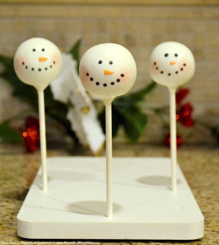 Schneemann Cake Pops Tutorial   – Christmas..