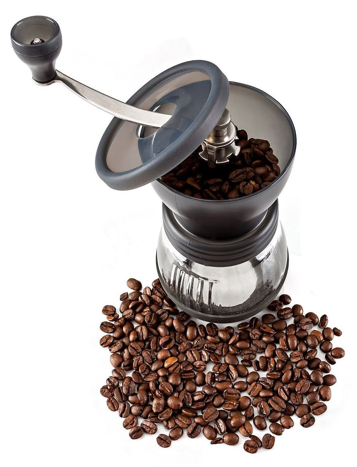 PuTwo Coffee-Black Stainless Steel Burr Coffee Grinder with Ceramic Hand Crank ** Continue to the product at the image link.