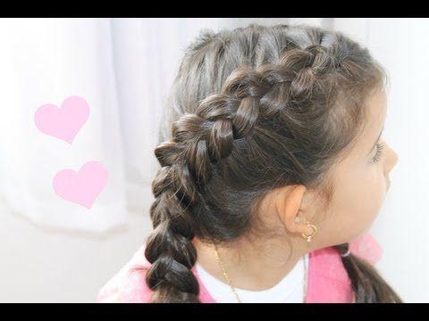 Penteado infantil: passo-a-passo de como fazer uma trança embutida  |   Blog Moda Infantil