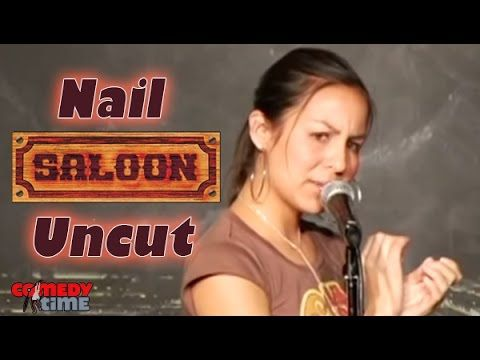 Stand Up Comedy by Anjelah Johnson- Nail Salon Uncut - YouTube of course we made a trip to have our nails done, but took this in before we went lol
