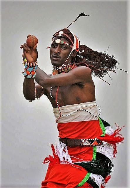 Masai-krijgers spelen zo cricket.