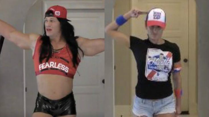 John Cena Dressed As Nikki Bella And Nikki Bella Dressed As John Cena Is A Sight That Can't Be Unseen