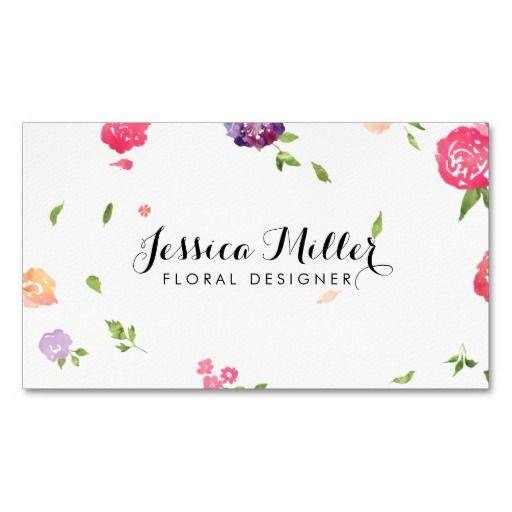 314 best floral design business cards images on pinterest design vintage watercolor florals craft designer ii business card reheart Choice Image