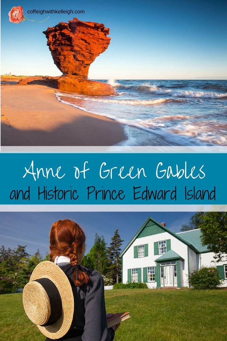Anne of Green Gables by Lucy Maud Montgomery and the sites of beautiful Prince Edward Island including teacup rock and singing sands beach.  Learn how to cook lobster and potatoes!