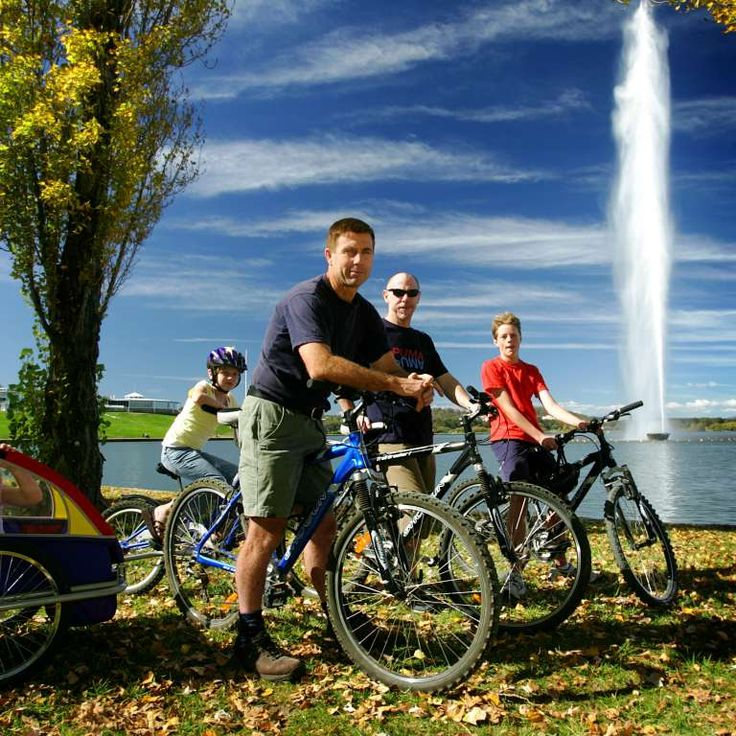 Hire bikes for the family and ride around one of our lakes