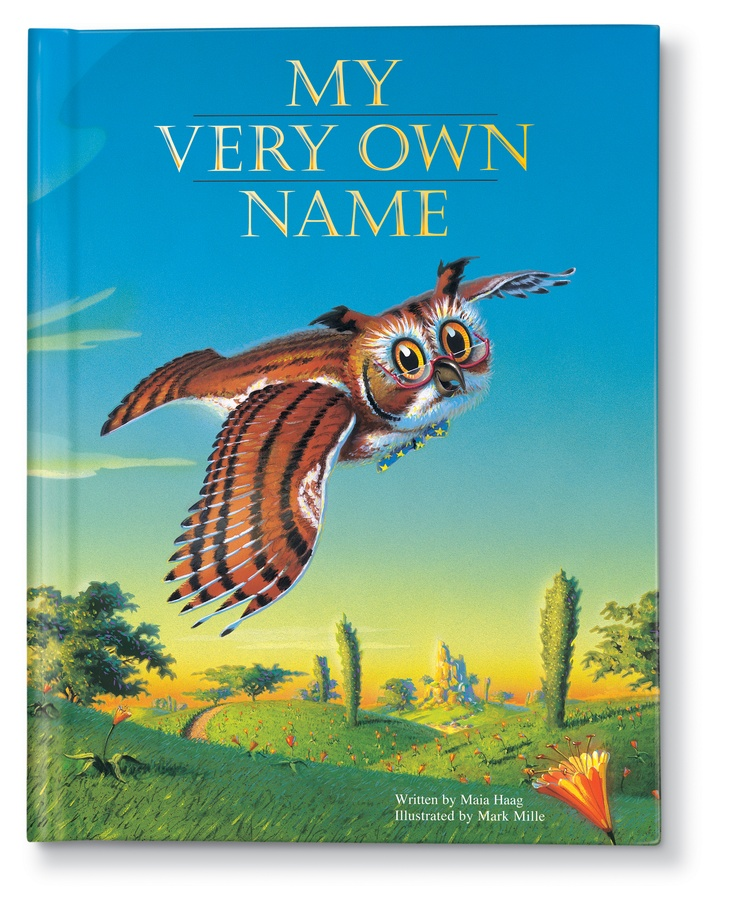 My Very Own Name Personalized Book    Author Maia Haag  Illustrator Mark Mille  www.iseeme.com    Animals come together with letters to spell out the baby's name! Award-winning, classic baby gift!