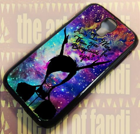 Fall Out Boy quote Galaxy Nebu For Samsung S4 Black Rubber Case