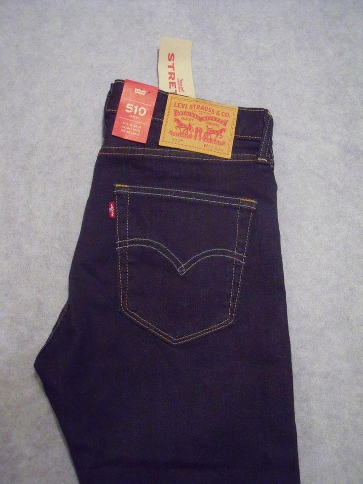 Levis 510 Men's Designer Blue Jeans W32 L34 - BNWT - Gift for him  | eBay