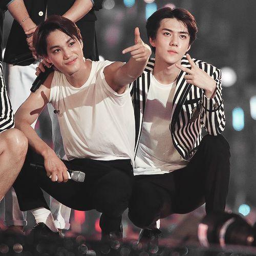 Kai and Sehun