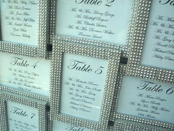 SILVER Bling Wedding Seating Chart  Seating by BringOutTheBling, $65.00