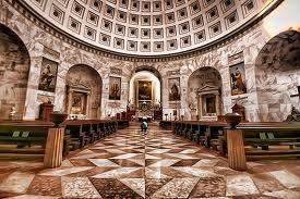 Interior Canova's Church, Possagno, Bassano del Grappa, Veneto