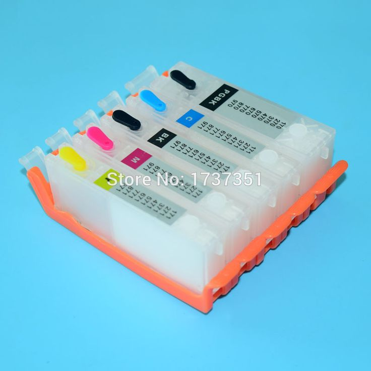 5 colors for Canon PGI-470 CLI-471 empty refill ink cartridge for Canon PIXMA mg6840 mg5740 printer with auto reset chip
