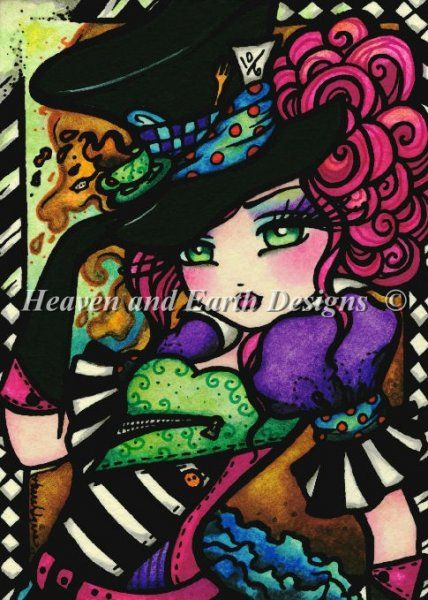 QS Mad Hatter : Heaven And Earth Designs, cross stitch, cross stitch patterns, counted cross stitch, christmas stockings, counted cross stitch chart, counted cross stitch designs, cross stitching, patterns, cross stitch art, cross stitch books, how to cross stitch, cross stitch needlework, cross stitch websites, cross stitch crafts