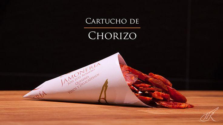 Chorizo Gourmet Cone. Jamonería José Luis Romero. Seville, Spain. // Cartucho de Chorizo. Sevilla, España.