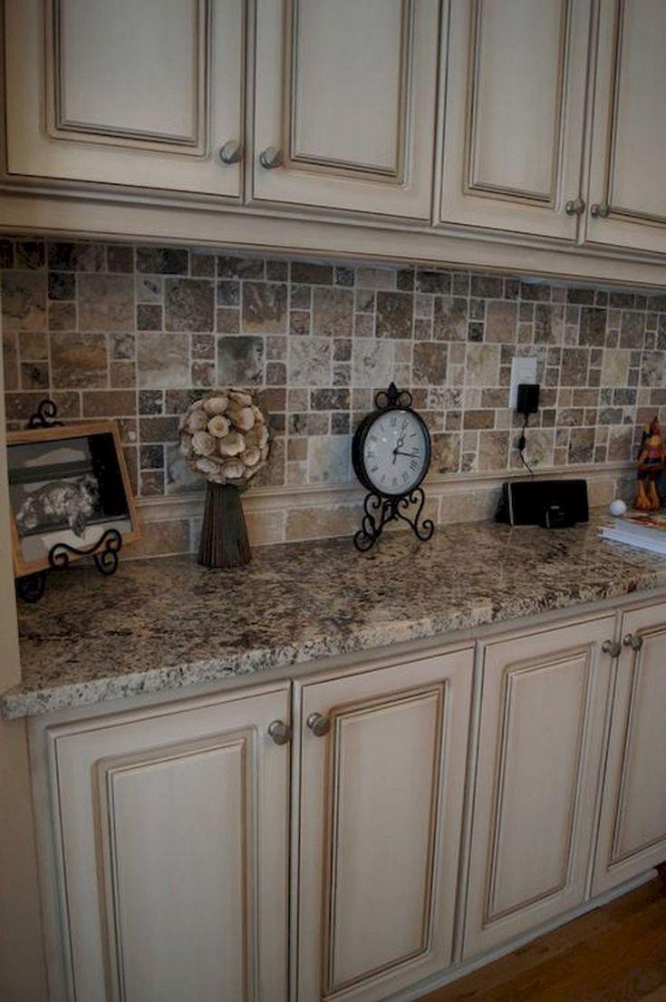 72 lovely kitchen backsplash with dark cabinets decor ideas cream colored kitchen cabinets on kitchen cabinet color ideas id=34465