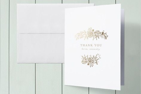 Perfect Posey Foil-Pressed Baby Shower Thank You Cards by Phrosne Ras at minted.com