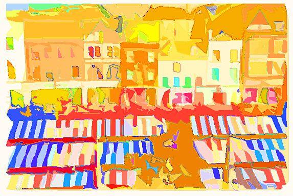 market square in orange