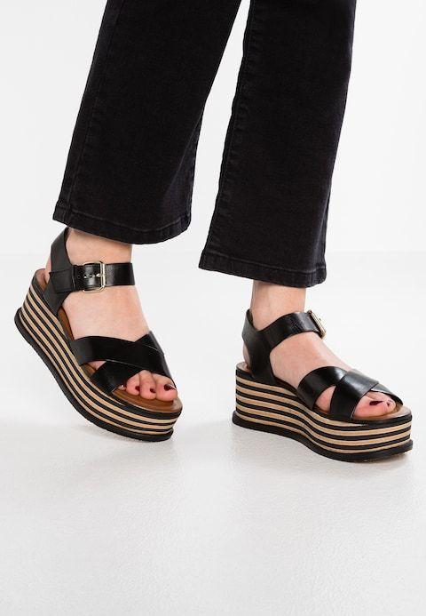 Minelli noir Sandals Womens Platform