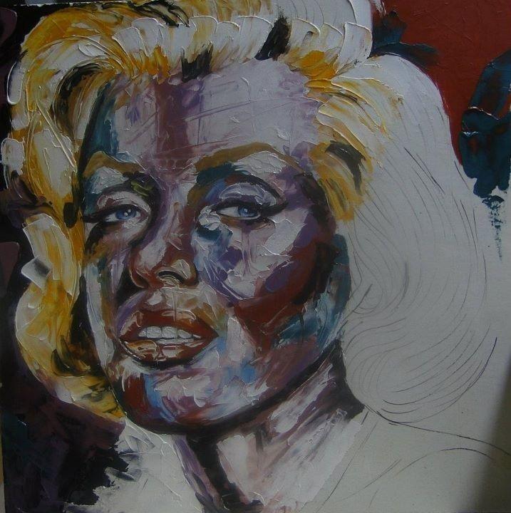 Painting on porcelain, palette knife. Nelia Ferreira