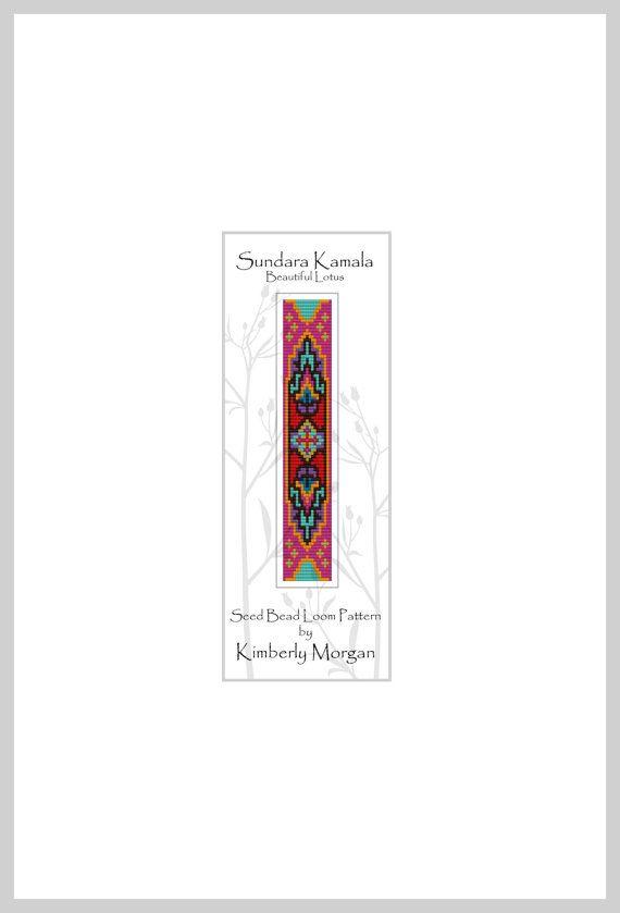 Sundara Kamala Seed Bead Loom Pattern PDF contains Labeled