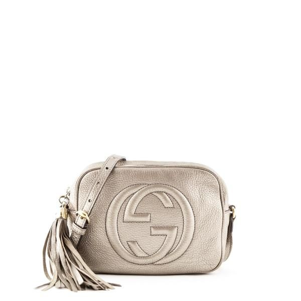 Gucci Pewter Soho Disco Love That Bag Preowned Authentic