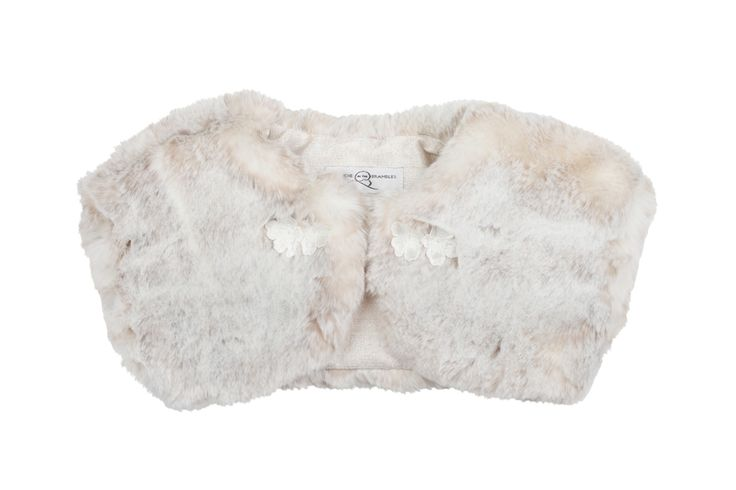 Blush pink flower girl jacket #fauxfur wedding jacket for bridesmaids. By Blanche in the Brambles. £45
