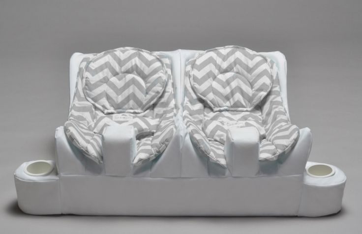 Twin Baby Feeding System | Table for Two  Well this certainly makes twin feeding time look more fun!