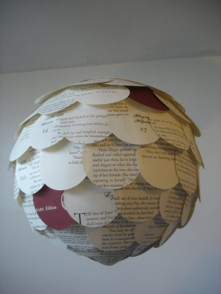 Little women up cycled paper chinese lantern mobile for Recycled paper lantern