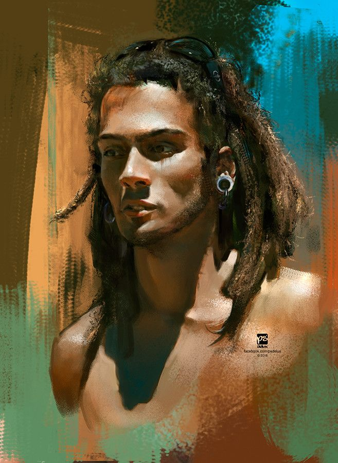 20160124 Male Portrait, psdelux ... on ArtStation at https://www.artstation.com/artwork/2Wl2J