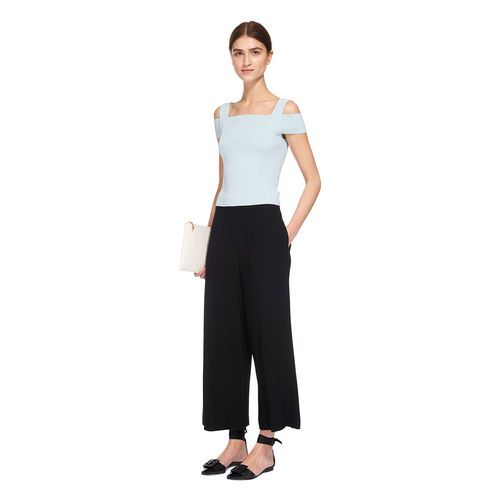Double Strap Bardot Knit, in Pale Blue on Whistles