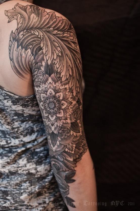 Mehndi Tattoo Sleeve: Black&Grey/Half Sleeve/Henna.