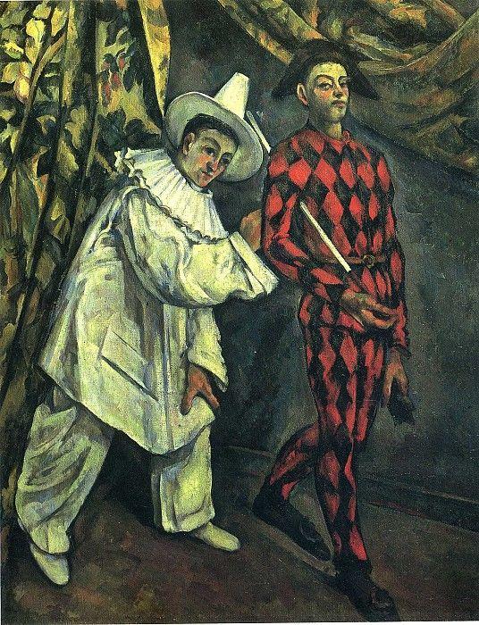 Пьеро и Арлекин, 1888. Поль Сезанн