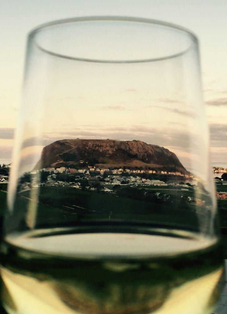 Stanley Nut from my wine glass. Stanley, Tasmania.