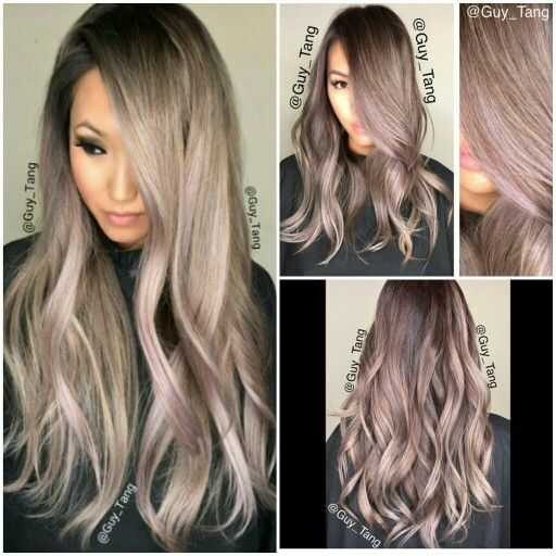 Lavender blonde gray ombre #guytang